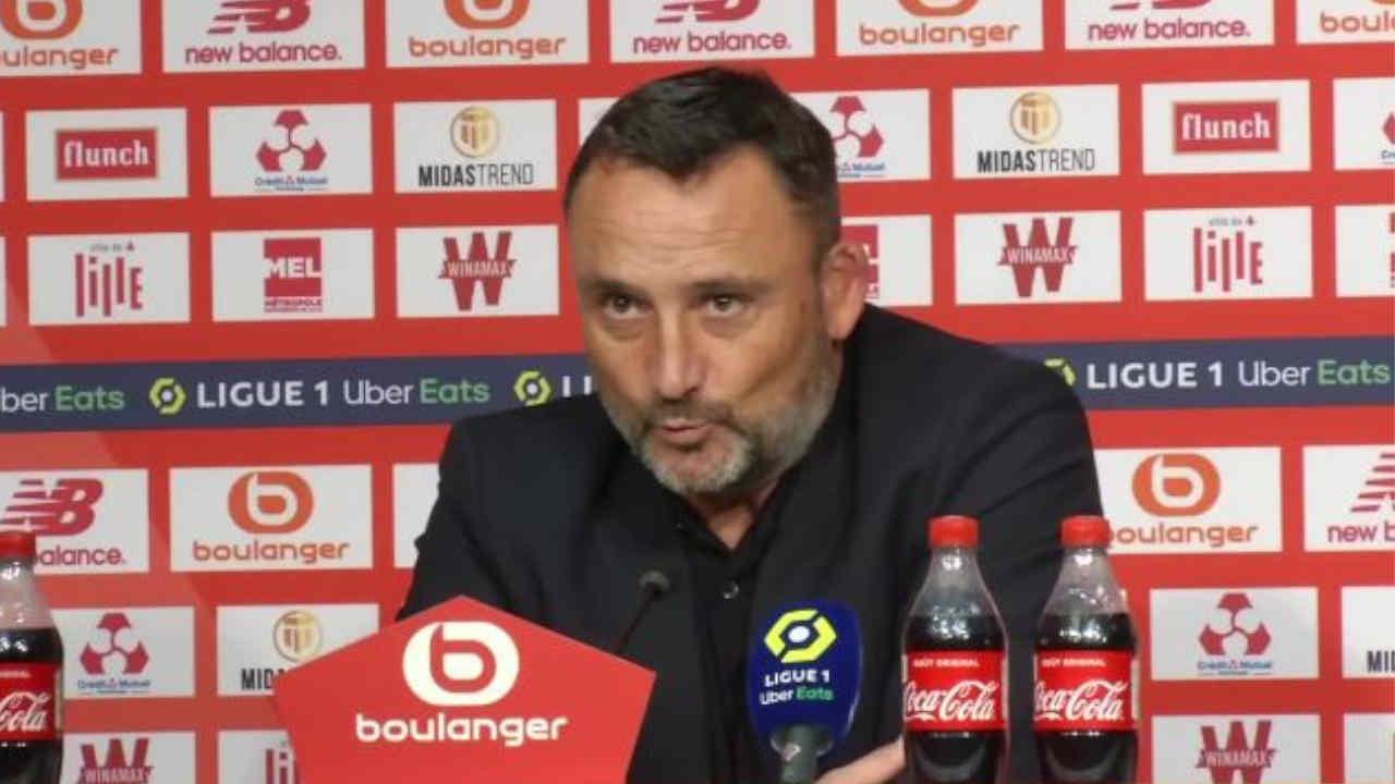 Franck Haise entraîneur du RC Lens