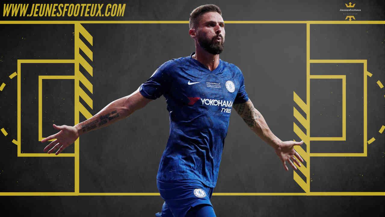 Olivier Giroud sous la tunique de Chelsea