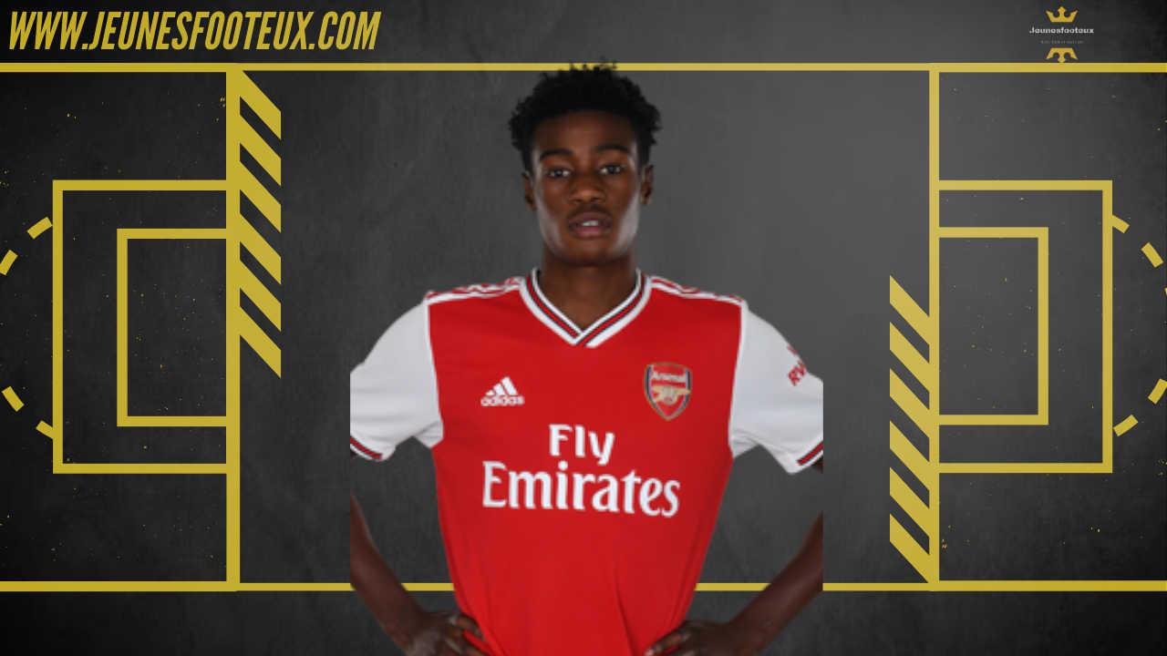 Folarin Balogun, jeune attaquant anglais d'Arsenal, en fin de contrat en juin 2021 avec les Gunners