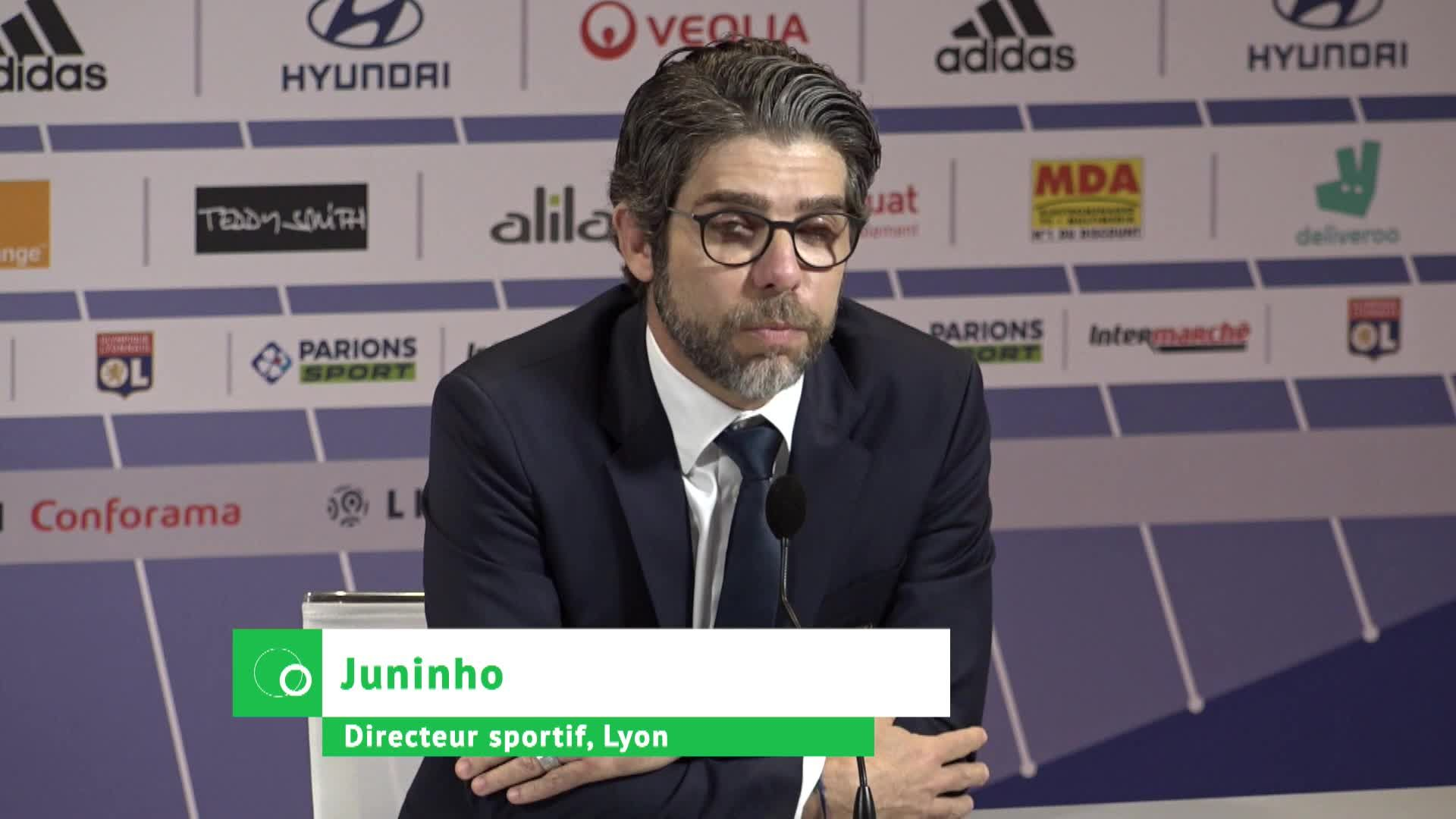 OL Foot : Juninho avant Lyon - Rennes.