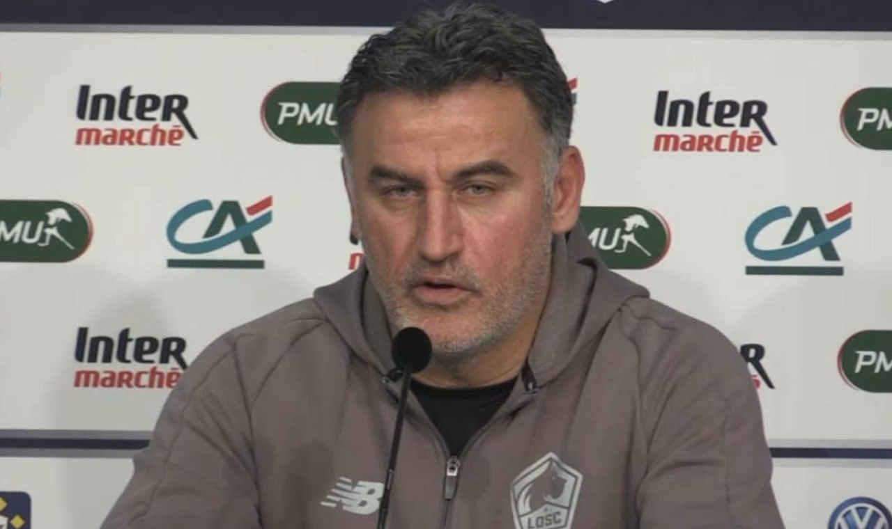 Christophe Galtier inquiet après la défaite du LOSC face à Nîmes