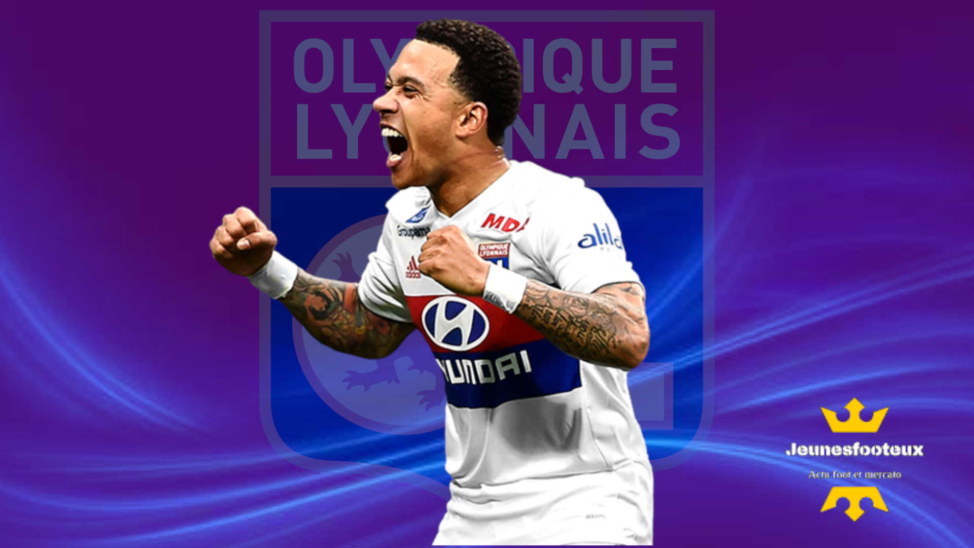 OL Foot : Memphis Depay ciblé par le Barça !