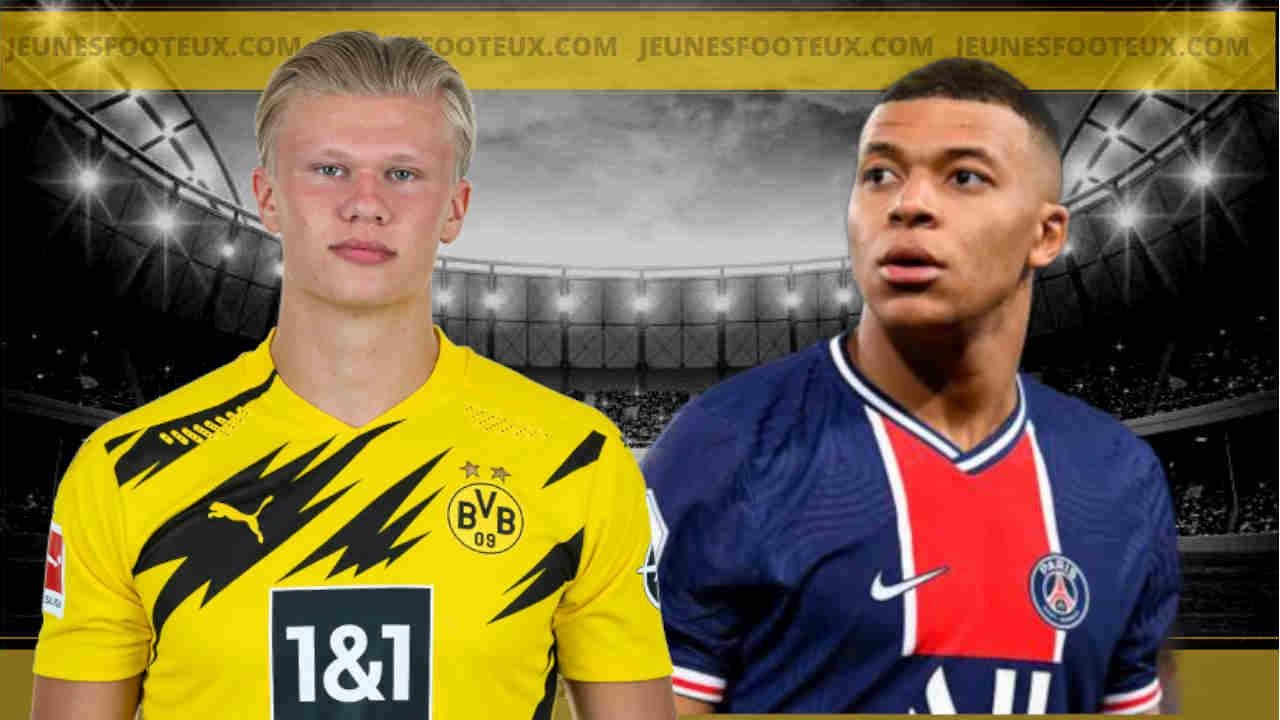 Kylian Mbappé (PSG) et Erling Haaland (Dortmund), que de statistiques parallèles !