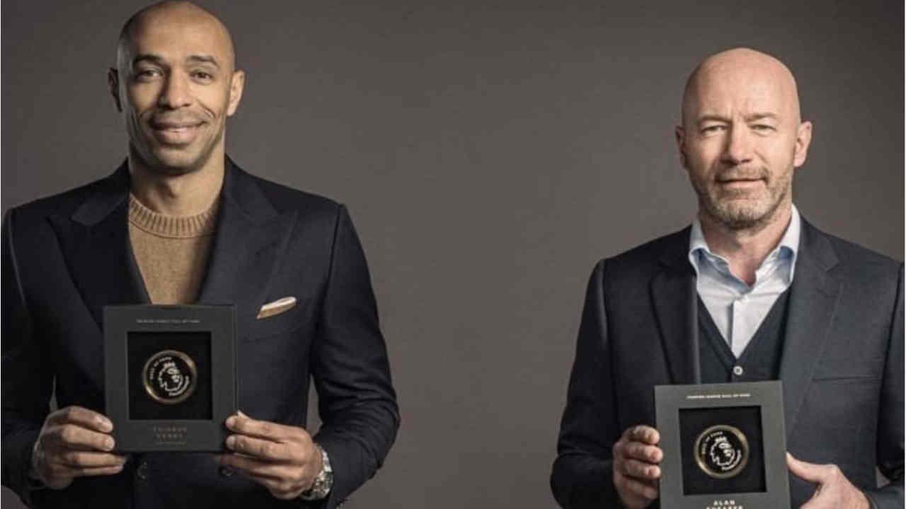 Premier League : Alan Shearer et Thierry Henry intègrent le Hall Of Fame