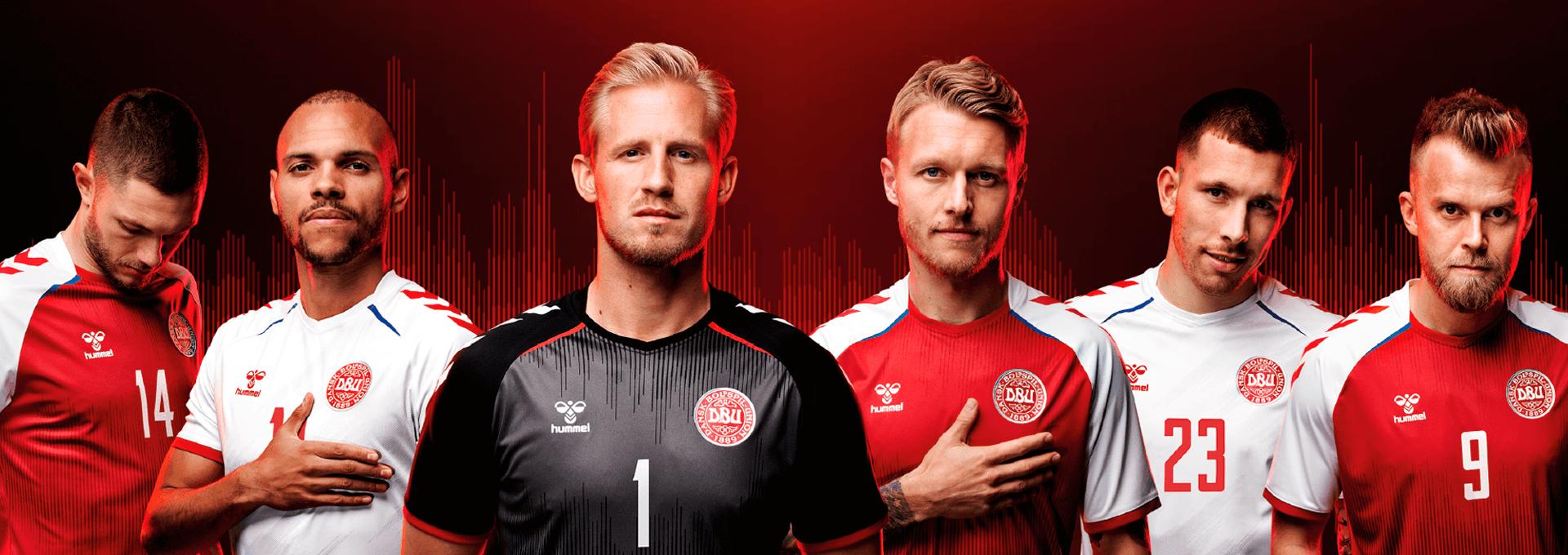 Zoom sur les maillots du Danemark