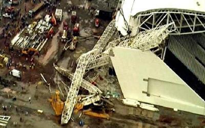 Mondial 2014: un stade en construction s'effondre et tue plusieurs ouvriers