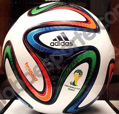 Voici Brazuca, le ballon Officiel de la Coupe du Monde.