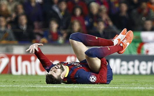 Barça: Piqué OUT au moins 1 mois !