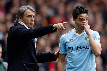 """Man City : Mancini sous entend que Nasri est """"fainéant"""""""