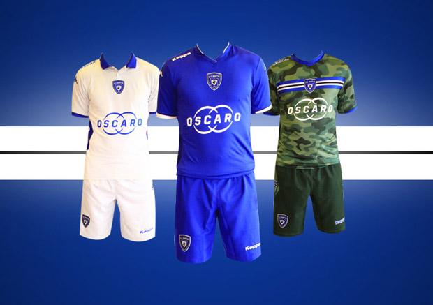 Bastia présente ses nouveaux maillots, saison 2014/2015