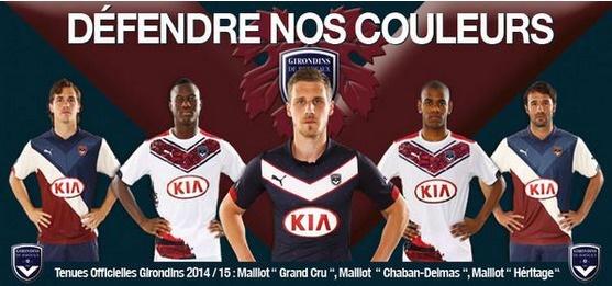 Bordeaux présente ses nouveaux maillots pour la saison 2014-2015