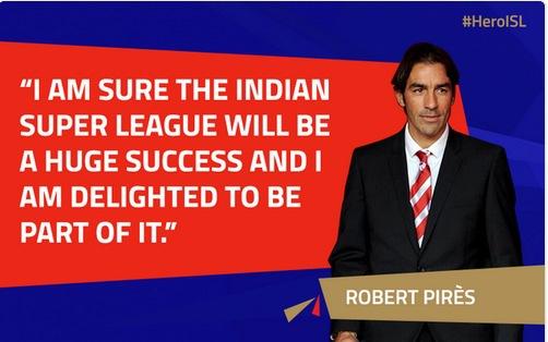 Robert Pirès va rejouer en inde dans le championnat de l'Indian Super League