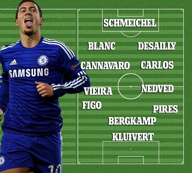 Le 11 de rêve assez étonnant d'Eden Hazard