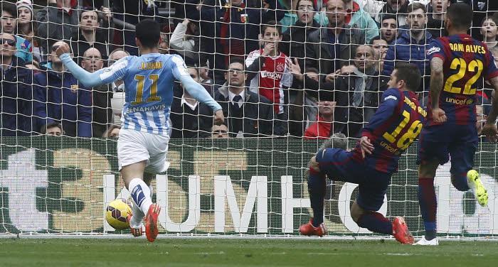 Le but de Juanmi a plongé le FC Barcelone de Jordi Alba et Dani Alves dans le désarroi.