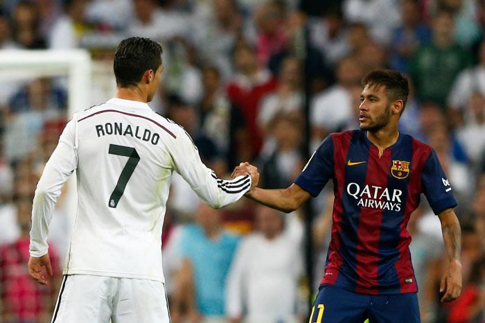 Cristiano Ronaldo et Neymar, ce sont deux des « héros » de la légende du Clasico. Barça-Real, c'est particulier !