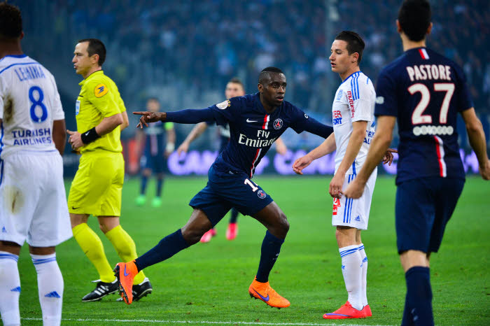 Blaise Matuidi triomphateur contre Marseille. Le Paris Saint-Germain file vers le titre !