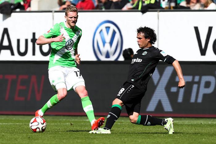 Mauvaise affaire pour Andre Schurrle et Wolfsburg qui ont abandonné 2 points précieux contre Hanovre...