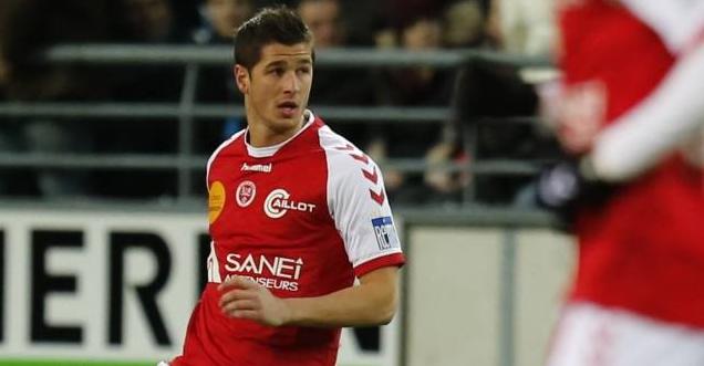 Le défenseur central de Reims Anthony Weber blessé à la cheville droite sera absent contre Rennes