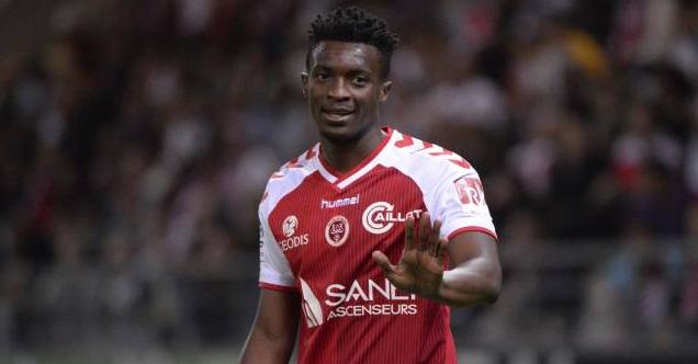 L'attaquant du Stade de Reims  Benjamin Moukandjo