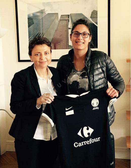 La Présidente Marie-Christine Terroni en compagnie de Karima Benameur