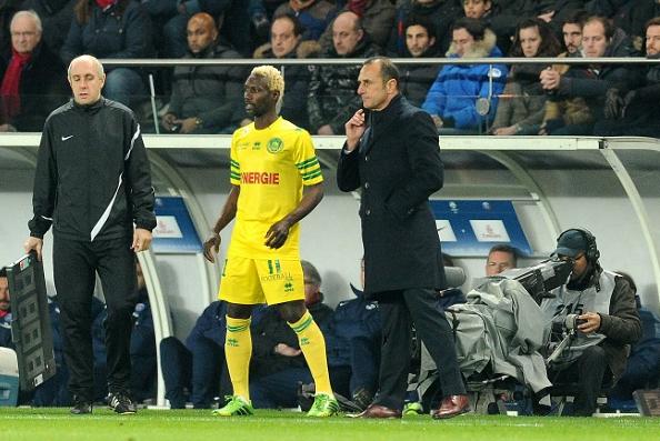 Ismaël Bangoura et son entraîneur Michel der Zakarian