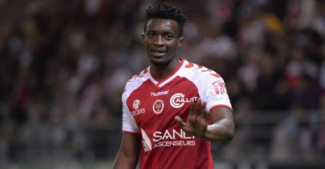 L'attaquant de Reims  Benjamin Moukandjo