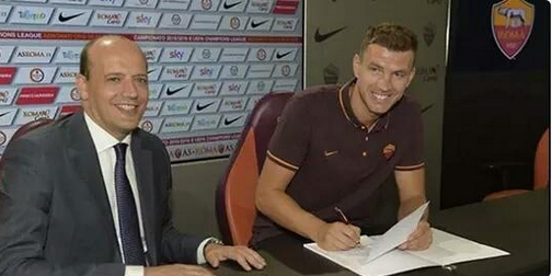Officiel : Edin Dzeko prêté à l'AS Roma