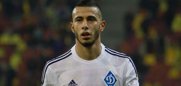 Le  milieu offensif du Dynamo Kiev, Younès Belhanda