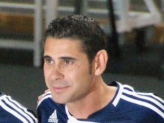 Fernando Hierro lors d'une rencontre de Futsal ( crédit photo el mundodelaura )