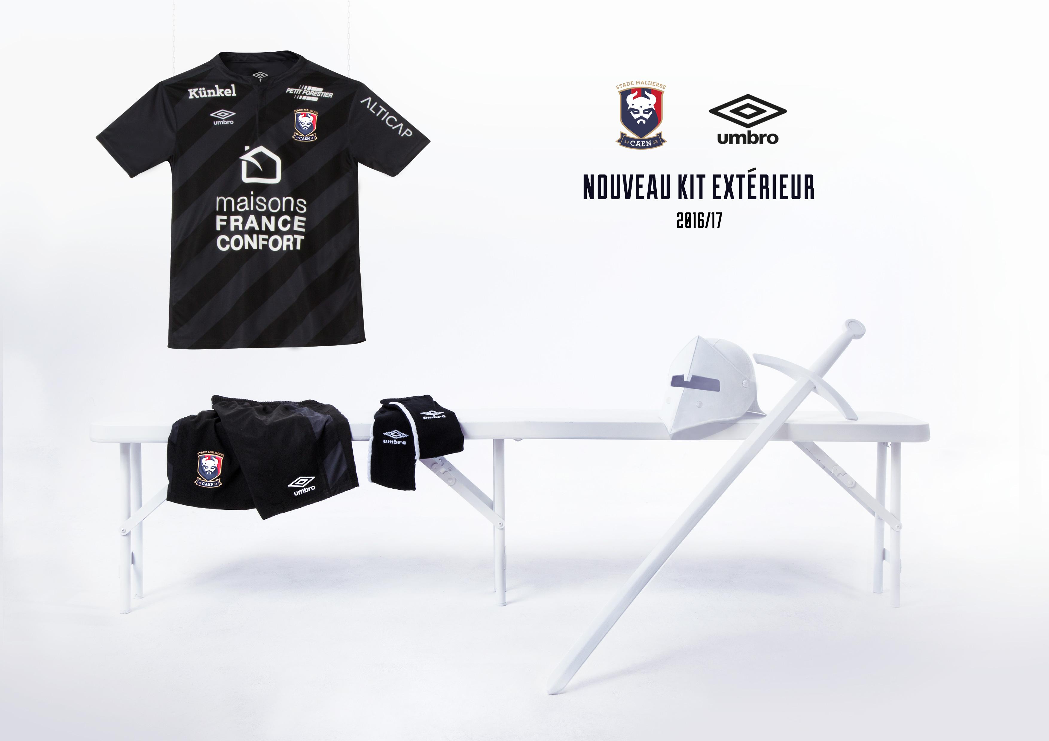 Umbro présente le nouveau maillot SM Caen Away 2016/2017