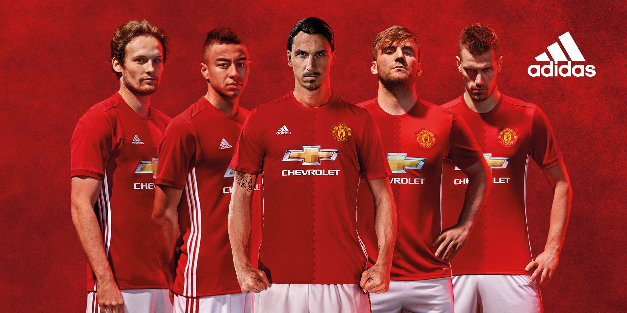 adidas dévoile le maillot Home de Manchester United pour la saison 2016/17