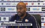 Bordeaux : Jimmy Briand tape du poing sur la tabble