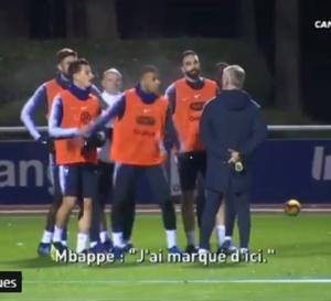 Kylian Mbappé pas content d'une décision de Didier Deschamps