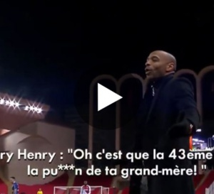 AS Monaco - Strasbourg : Thierry Henry insulte méchamment Kenny Lala