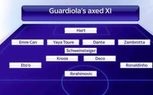 Le onze type que Guardiola a placardisé depuis qu'il est entraineur