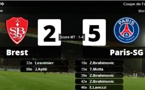 CDF : le PSG domine Brest