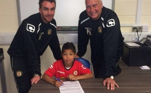 Cassius Cissé (8 ans), fils de Djibril, signe à Crewe Alexandra (Photo)