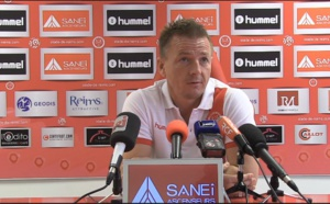 Olivier Guégan et Anthony Weber en conférence de presse avant Reims-PSG