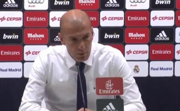 Real Madrid : l'énorme coup de gueule de Zidane
