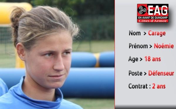 D1 Féminine : Noémie Carage à Guingamp