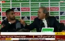 La monumentale colère du sélectionneur de l'Algérie Rabah Madjer contre un journaliste