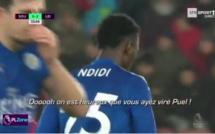 Les supporters de Leicester qui chambrent ceux de Southampton par rapport à Claude Puel