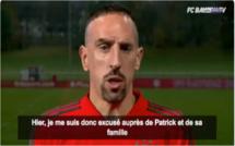 Franck Ribéry présente ses excuses à Patrick Guillou