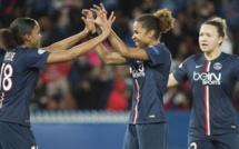Le groupe des Parisiennes pour la finale de l'UEFA Women's Champions League