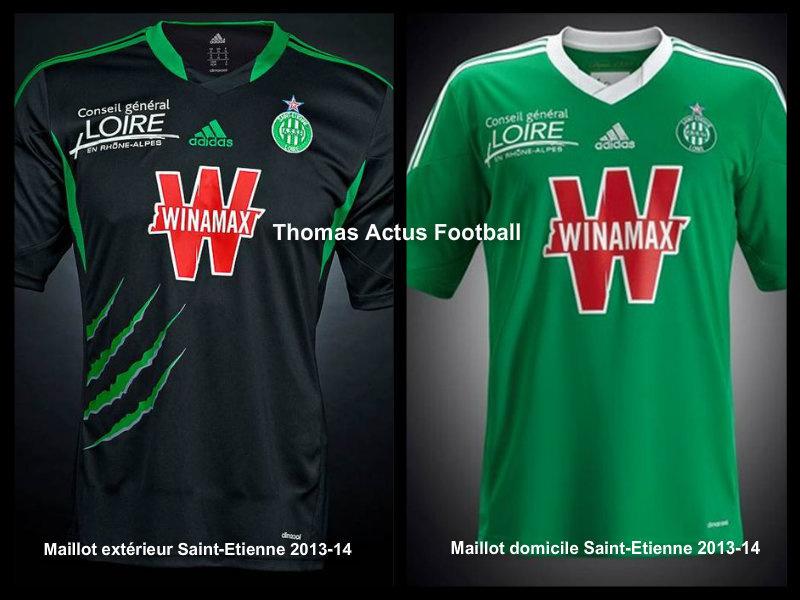 Voici les maillots 2013-14 de l'ASSE